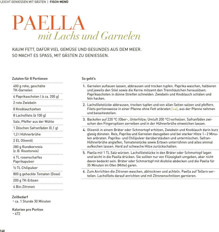 Rezept Paella mit Lachs und Garnelen Kosmos Verlag