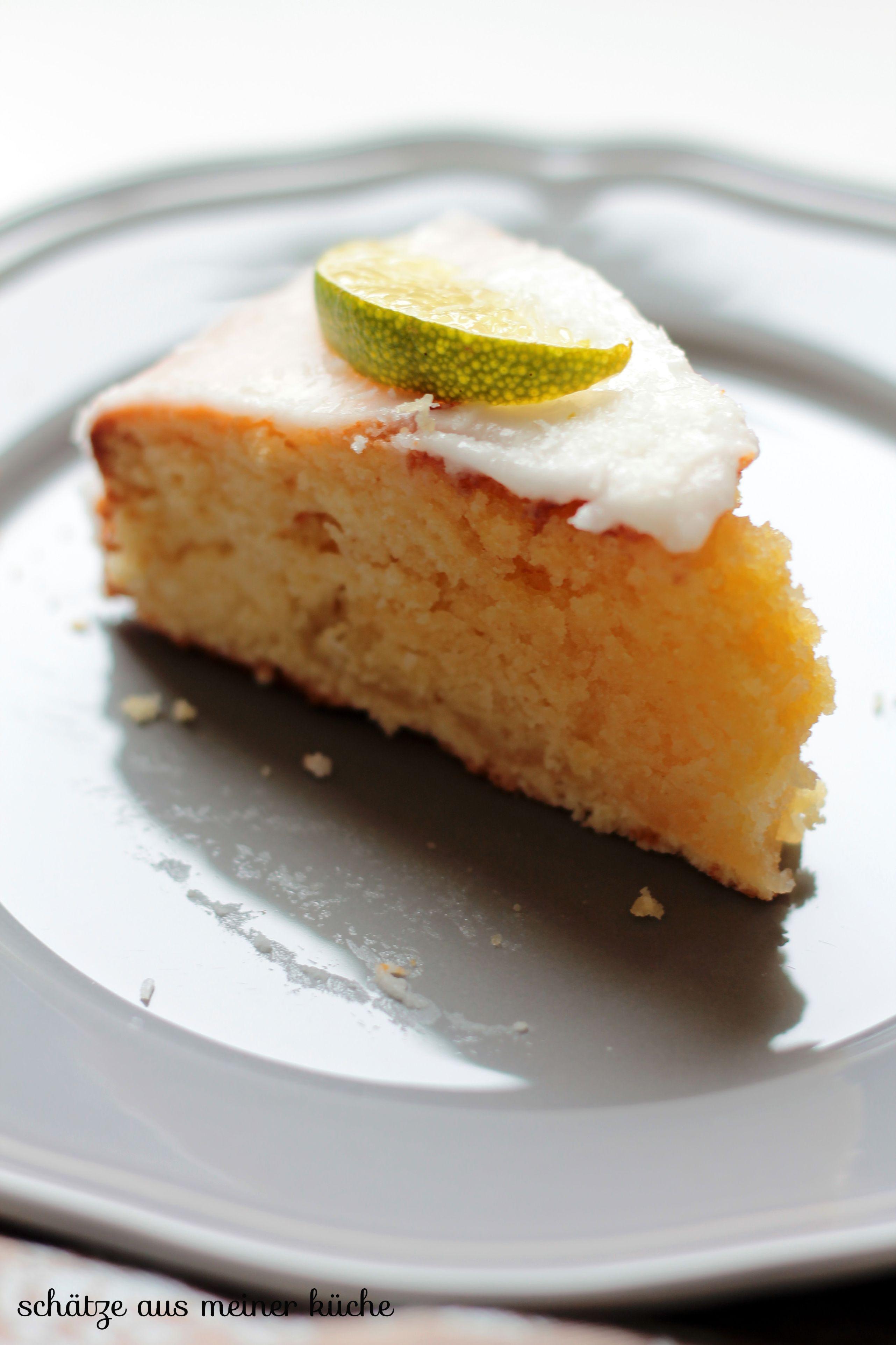 Limetten-Kokos-Cake