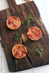 Mini Tortilla-Pizzen - klein