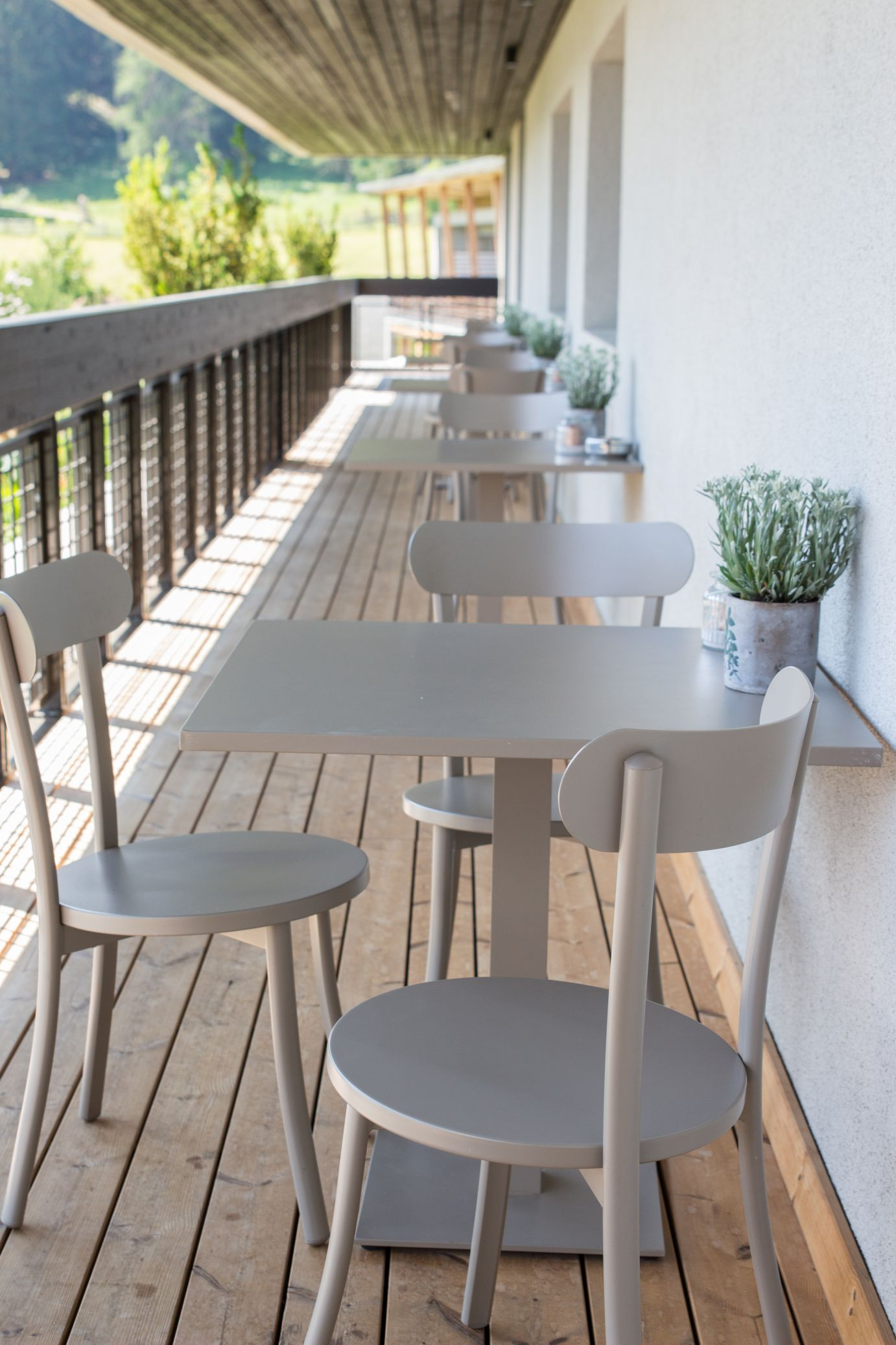 Frühstück Restaurant Terrasse Hotel Pfösl Schätze aus meiner Küche
