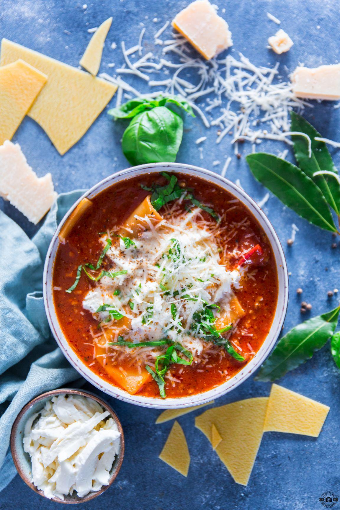 Köstlich cremige Lasagne-Suppe