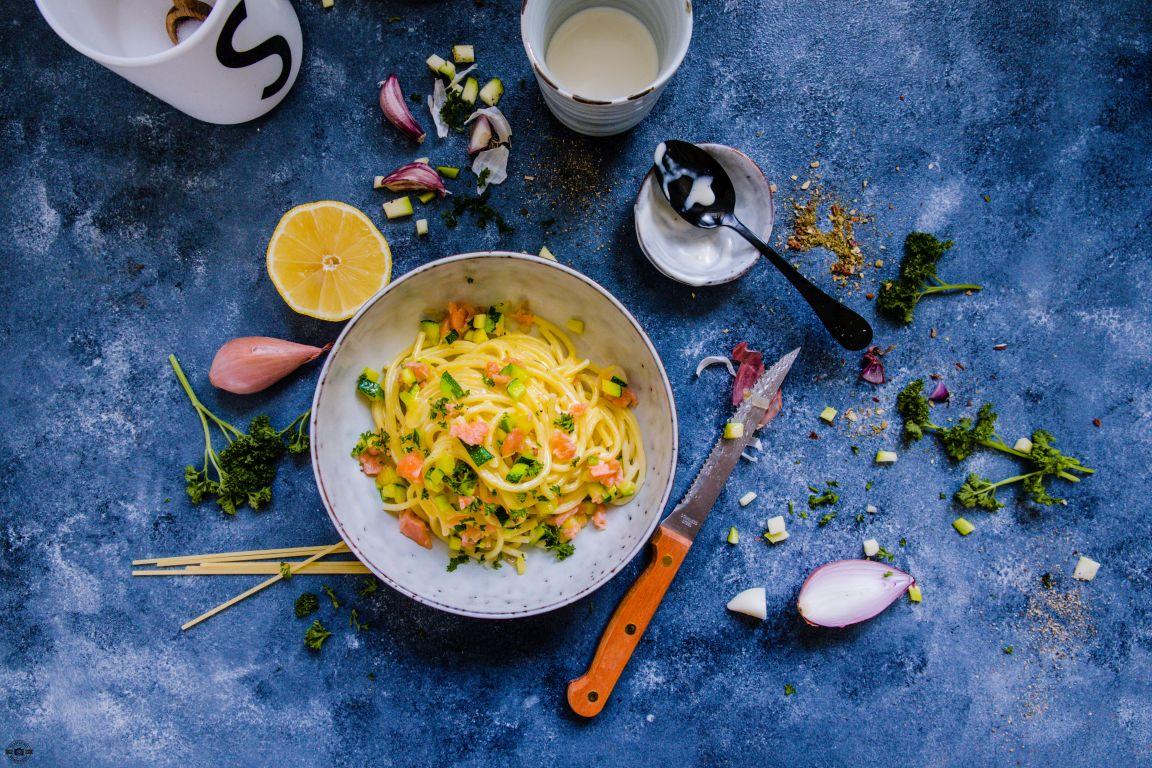 Zucchini-Lachs-Spaghetti Schätze aus meiner Küche