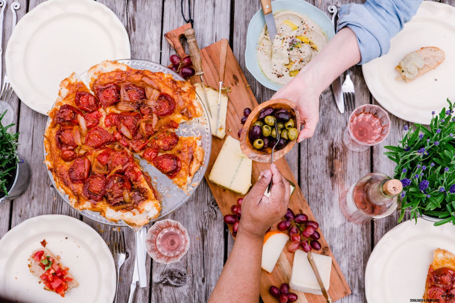 Dinner mit Freunden Provence Schätze aus meiner Küche