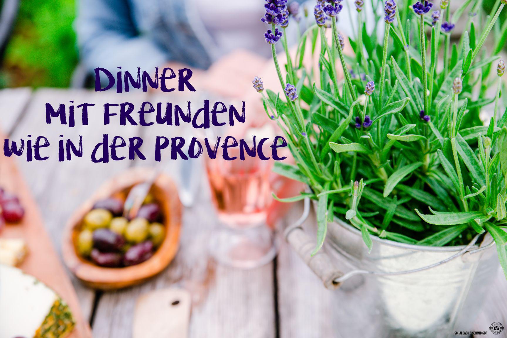 Dinner mit Freunden Sommermenü für einen Abend mit Freunden Provence Schätze aus meiner Küche