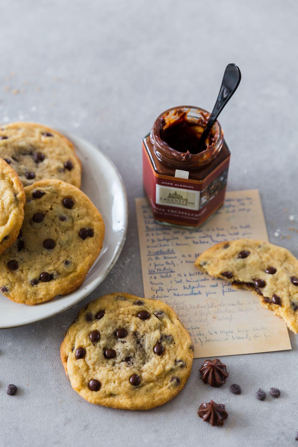 Salted Caramel Chocolate Chip Cookies Schätze aus meiner Küche
