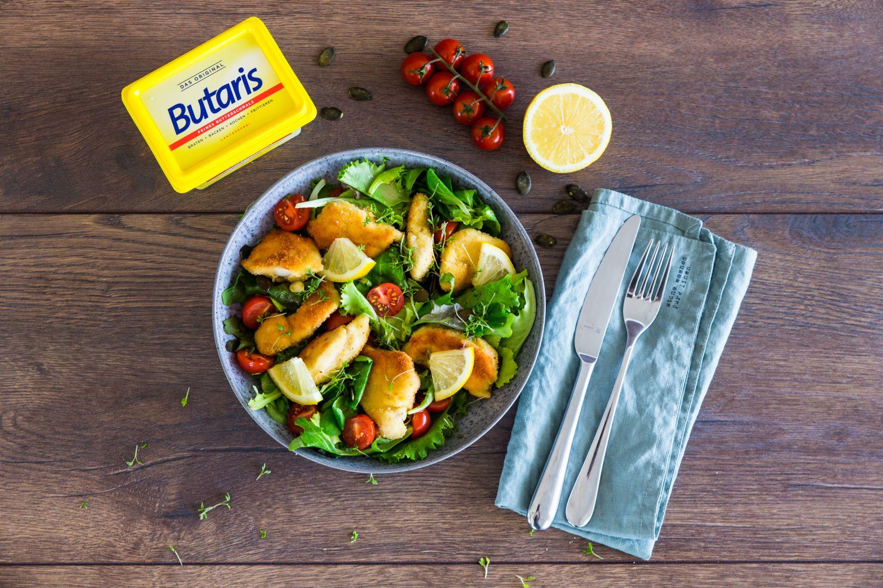 Backhendlsalat mit Kürbiskerndressing Schätze aus meiner Küche