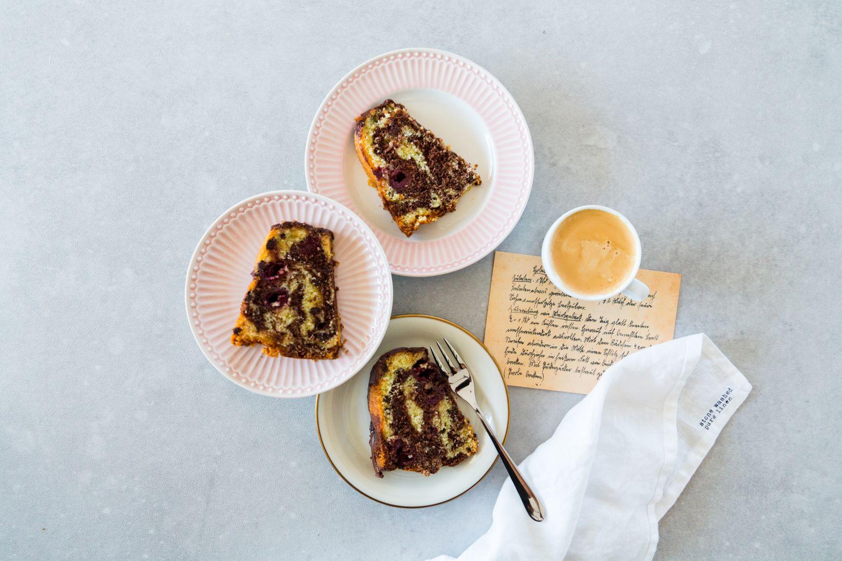 Saftiger Marmorkuchen mit Kirschen & Schokolade Schätze aus meiner Küche