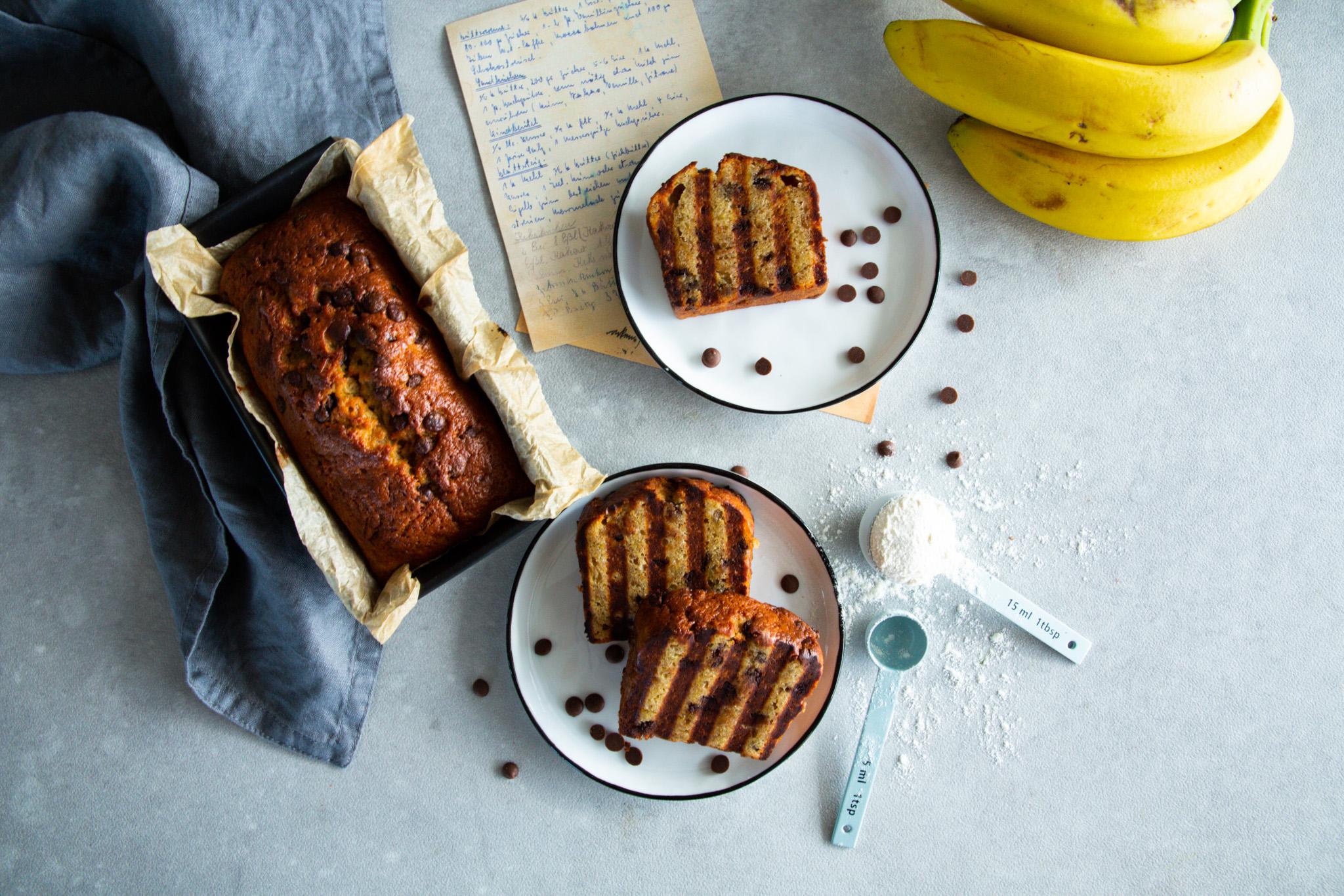 Einfaches, schnelles Bananabread mit Chocolate Chips Schätze aus meiner Küche