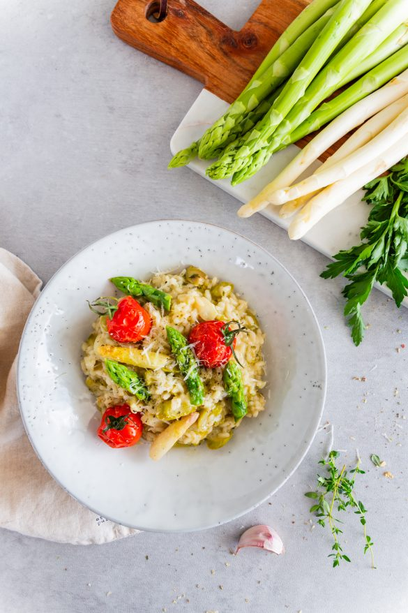 Cremiges Spargelrisotto